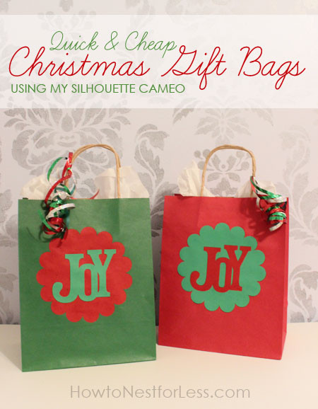 Christmas Party Goodie Bag Ideas  Quick & Easy Christmas Gift Bags using my Silhouette