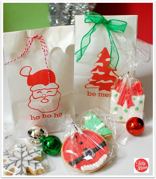 Christmas Party Goodie Bag Ideas  Free Printable Christmas Gift Bags