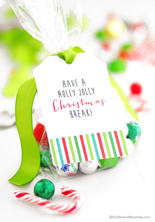 Christmas Party Goodie Bag Ideas  Printable Christmas Goo Bag Tags