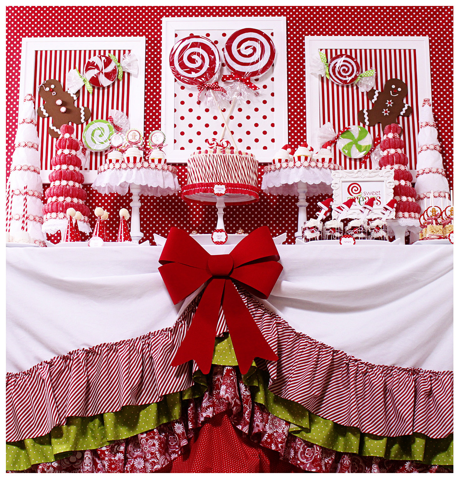 Christmas Party Ideas  Kara s Party Ideas Candy Land Christmas Party