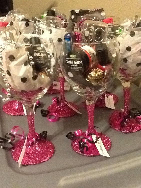 Christmas Party Ideas For Adults  Wine Glass Favors
