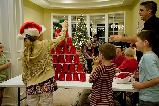 """Christmas Party Ideas For Families  Christmas """"Minute to Win it"""" games for a family party"""