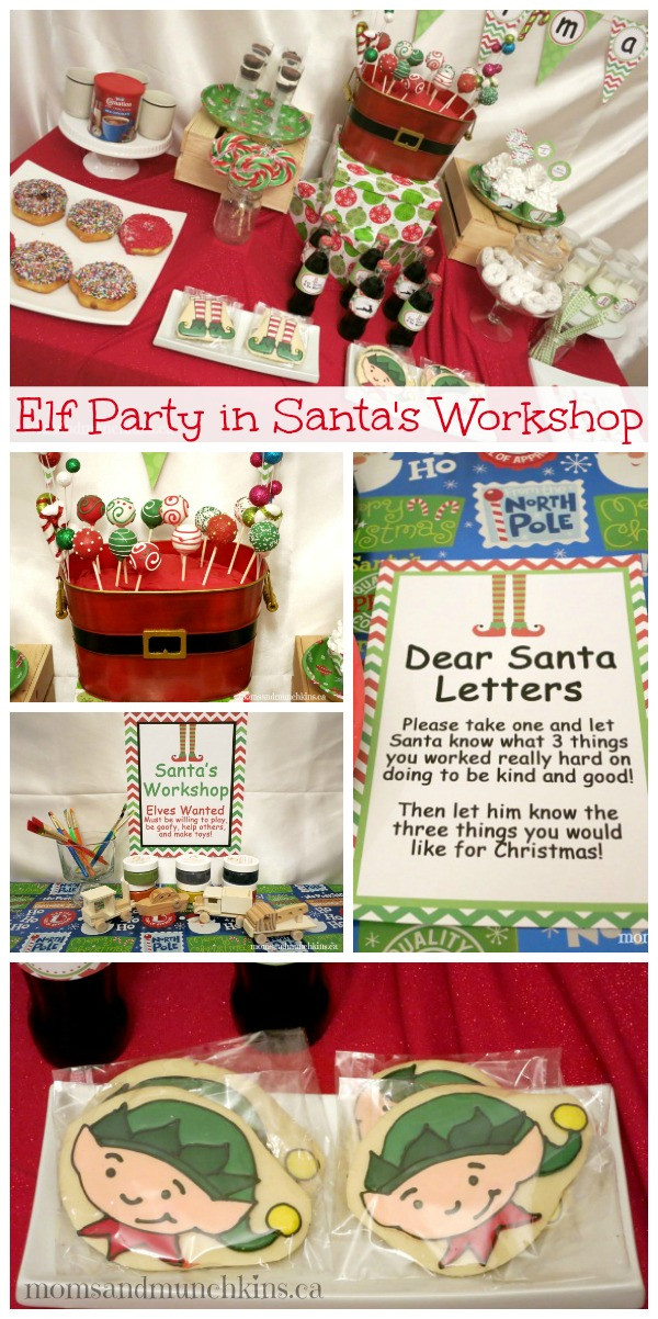 Christmas Party Ideas For Families  Elf Party in Santa s Workshop Moms & Munchkins