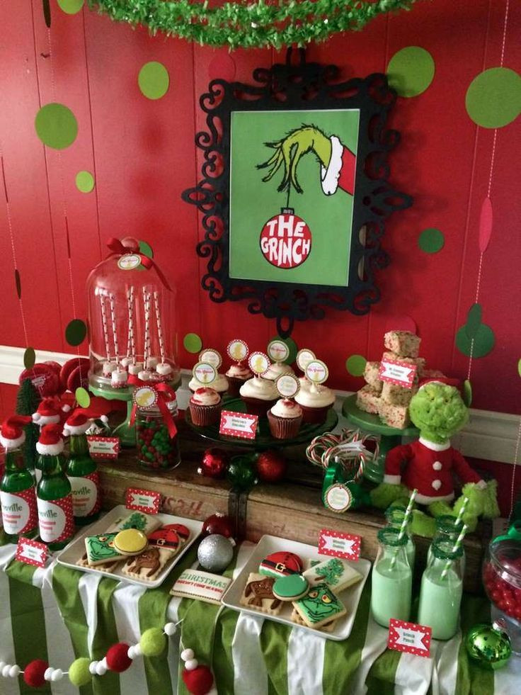 Christmas Party Ideas  Best 25 Grinch party ideas on Pinterest
