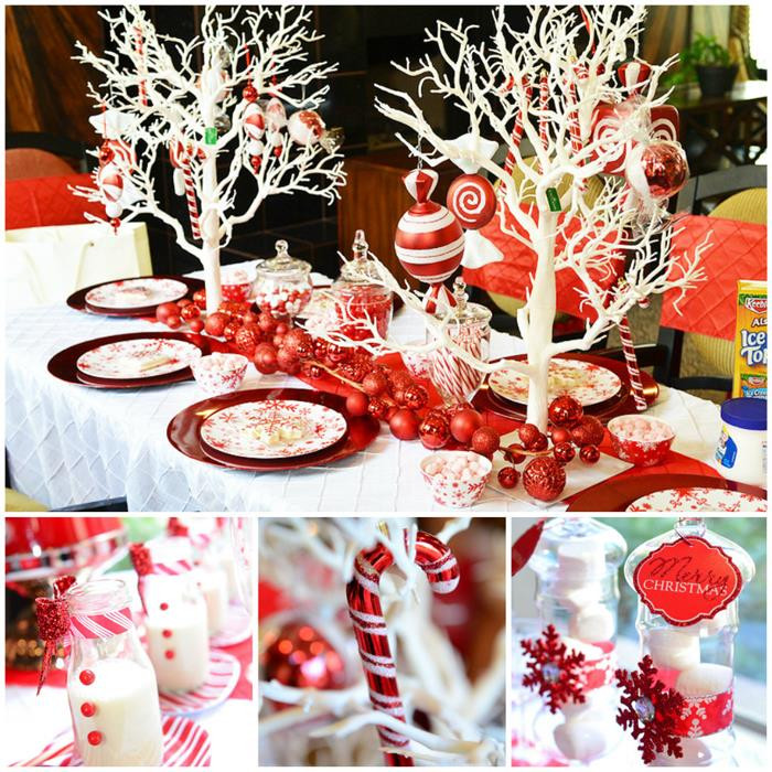 Christmas Party Ideas  Kara s Party Ideas Candy Cane Winter Wonderland Party