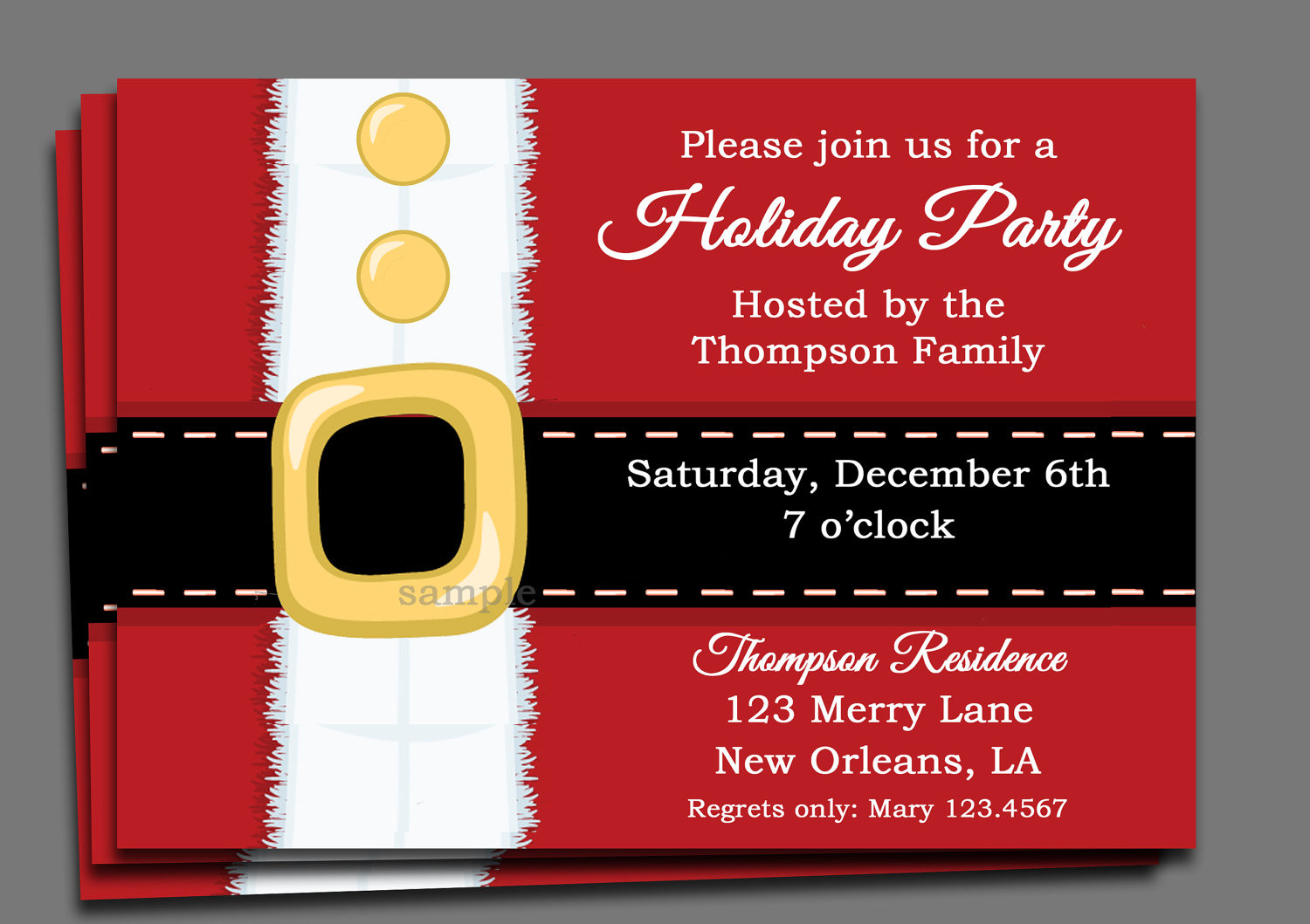 Christmas Party Invitation Ideas  Christmas Party Invitation Printable or Printed with FREE