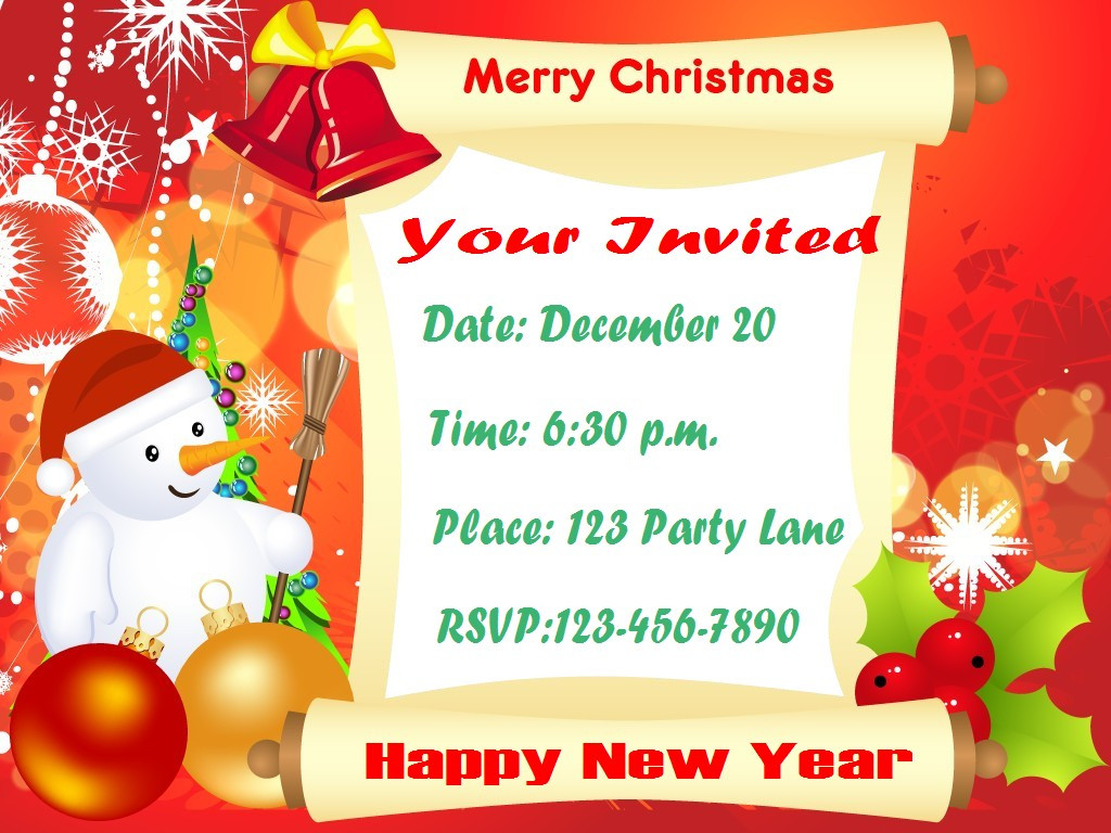 Christmas Party Invitation Ideas  Christmas Party Invitations – Party Ideas