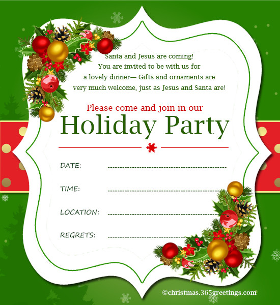 Christmas Party Invitation Ideas  Christmas Invitation Template And Wording Ideas
