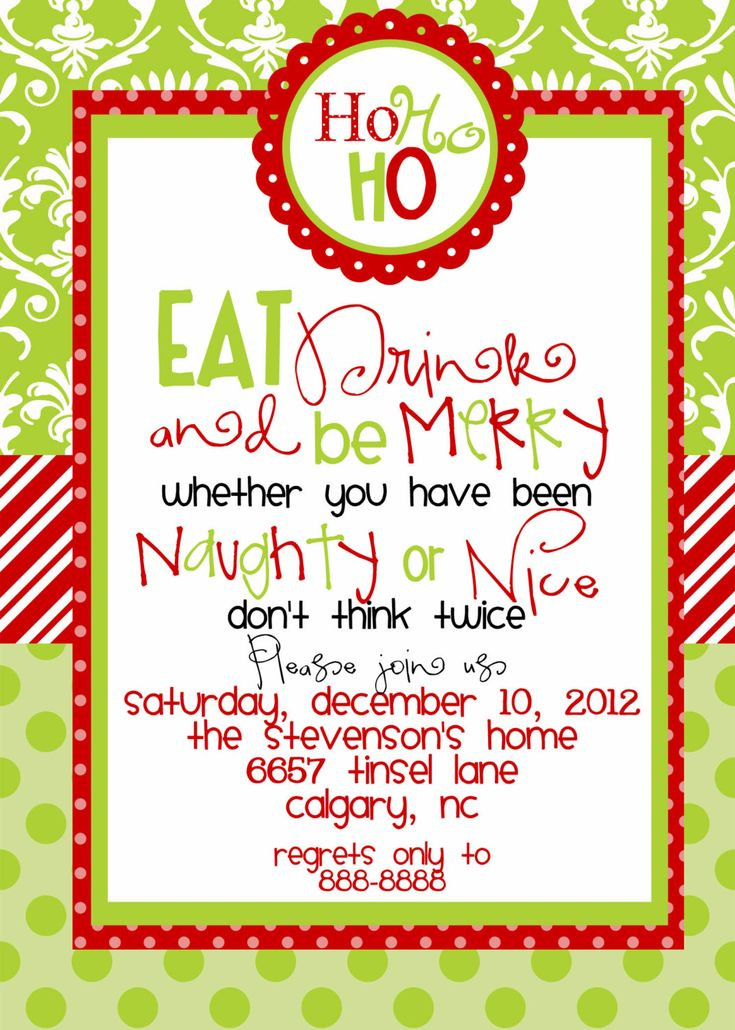 Christmas Party Invitation Ideas  25 unique Christmas party invitations ideas on Pinterest