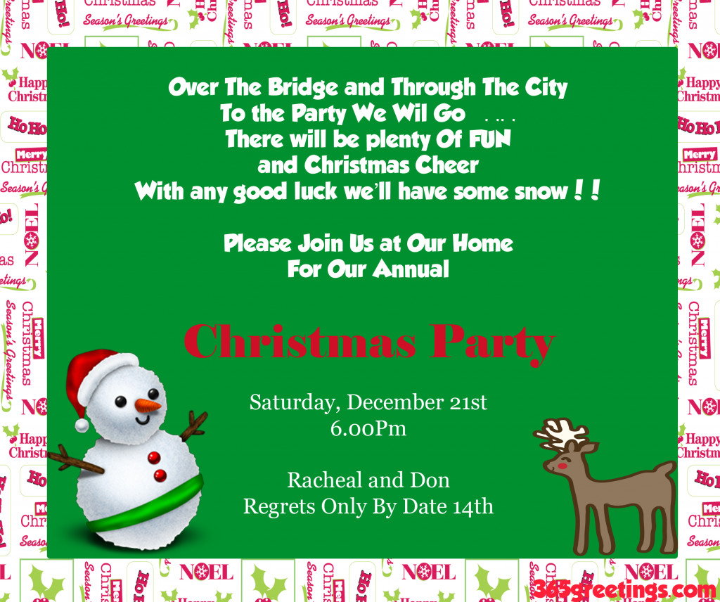 Christmas Party Invitation Ideas  Christmas Party Invitation Ideas Christmas Celebration