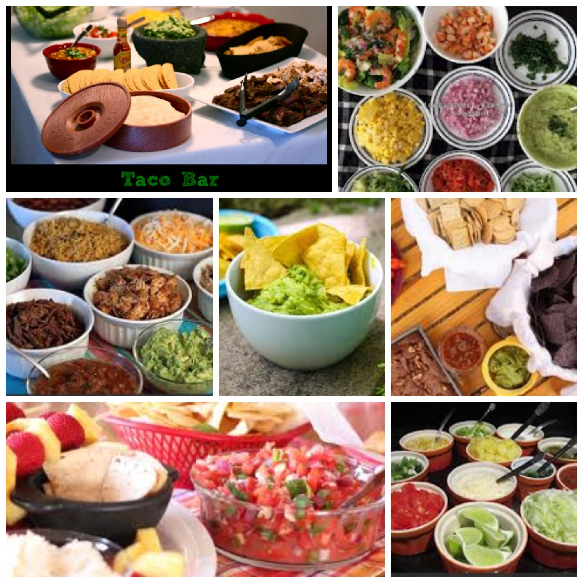 Christmas Party Menu Ideas For Large Groups  Taco bar ideas to feed groups of 10