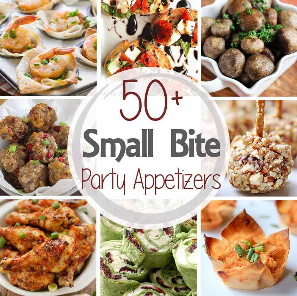 Christmas Party Menu Ideas For Large Groups  50 Small Bite Party Appetizers Julie s Eats & Treats