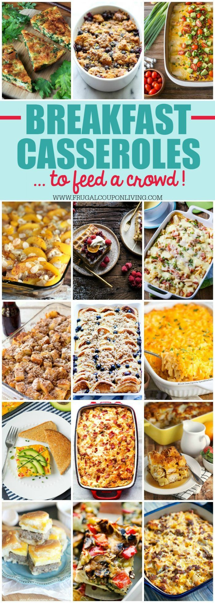 Christmas Party Menu Ideas For Large Groups  Breakfast Casseroles for a Crowd