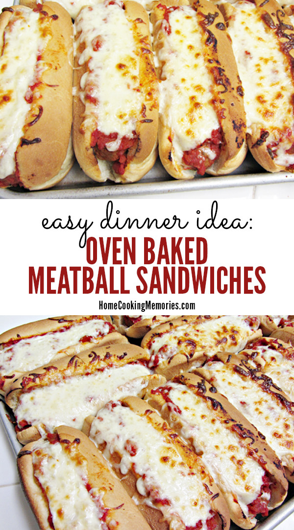 Christmas Party Menu Ideas For Large Groups  Easy Dinner Idea Oven Baked Meatball Sandwiches Recipe