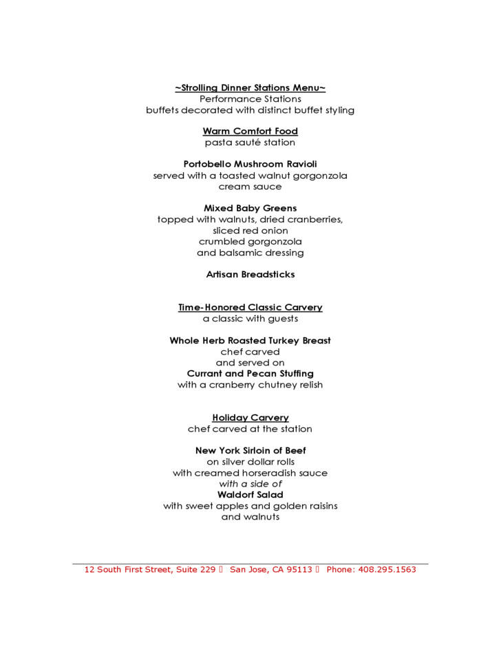 Christmas Party Menu Ideas For Large Groups  Sample Holiday Party Menu for a Group Free Download