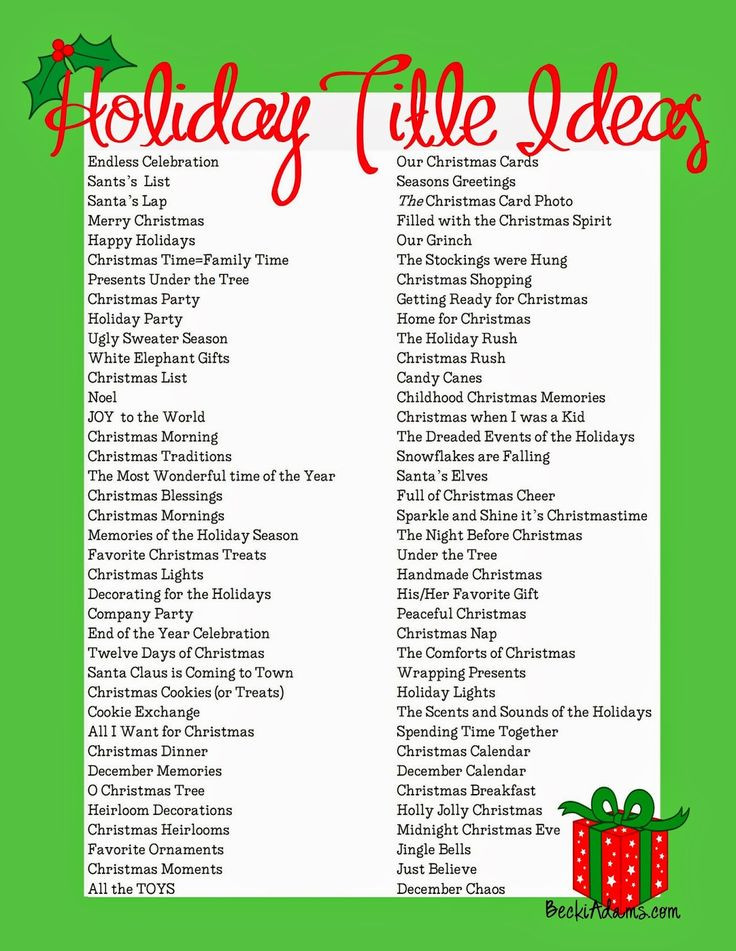 Christmas Party Name Ideas  Best 25 Scrapbook titles ideas on Pinterest