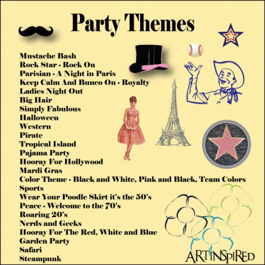 Christmas Party Name Ideas  Bunco Themes