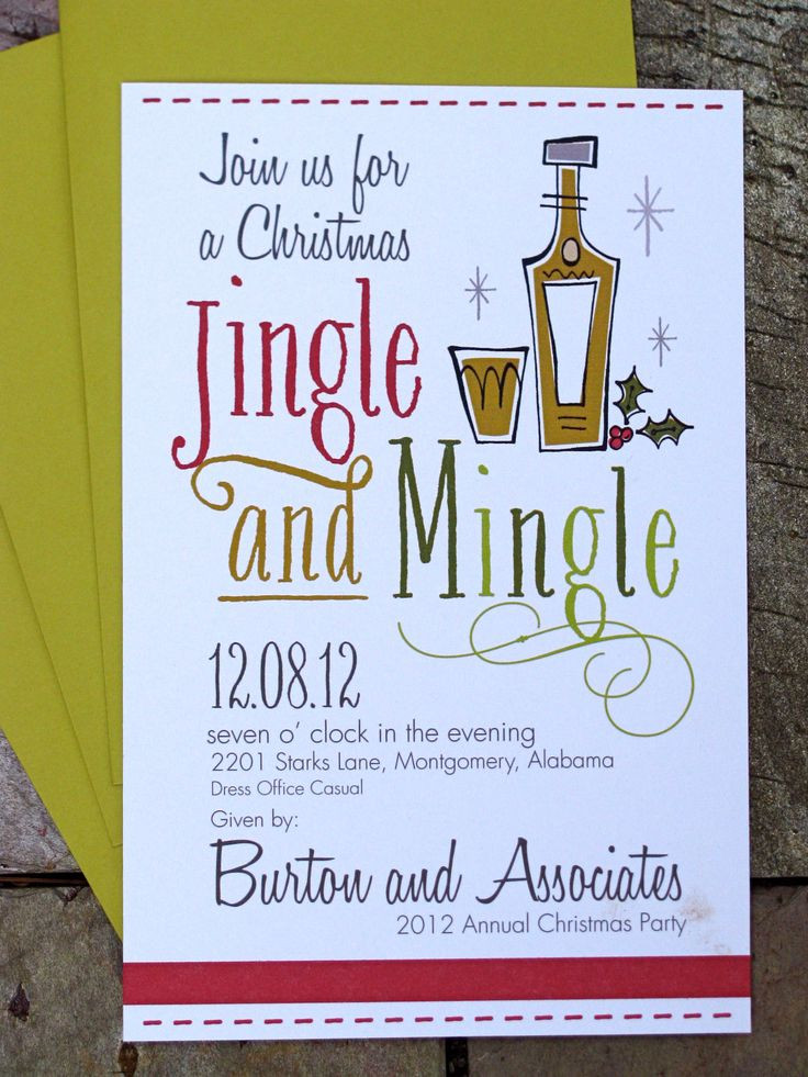 Christmas Party Name Ideas  25 best ideas about Christmas party invitations on