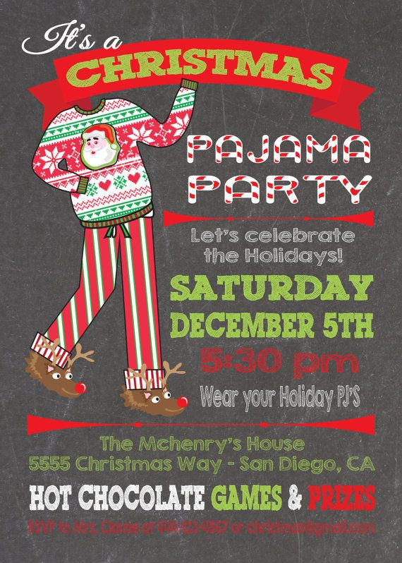 Christmas Party Name Ideas  Best 25 Christmas party invitations ideas on Pinterest
