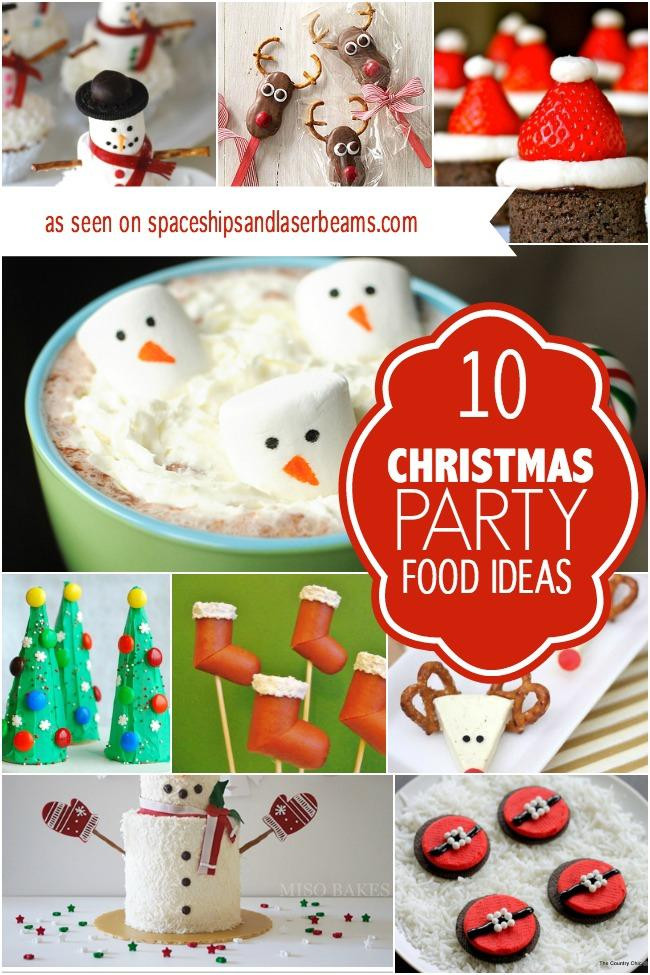 Christmas Party Recipes Ideas  16 Cute Kids Christmas Party Food Ideas Spaceships and