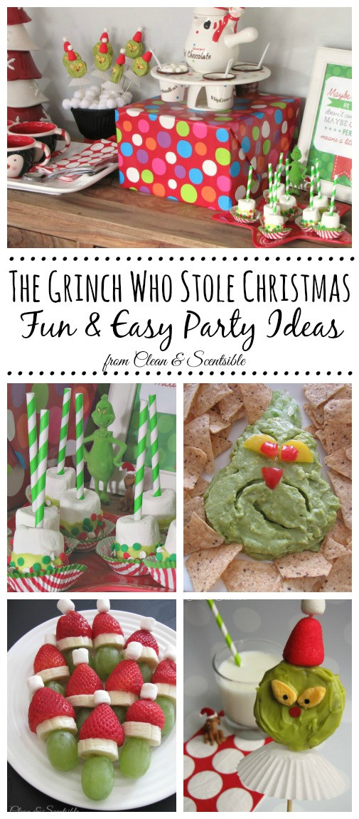Christmas Party Recipes Ideas  Grinch Party Clean and Scentsible