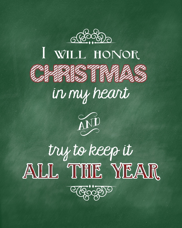 Christmas Pic Quotes  Christmas Carol Printable