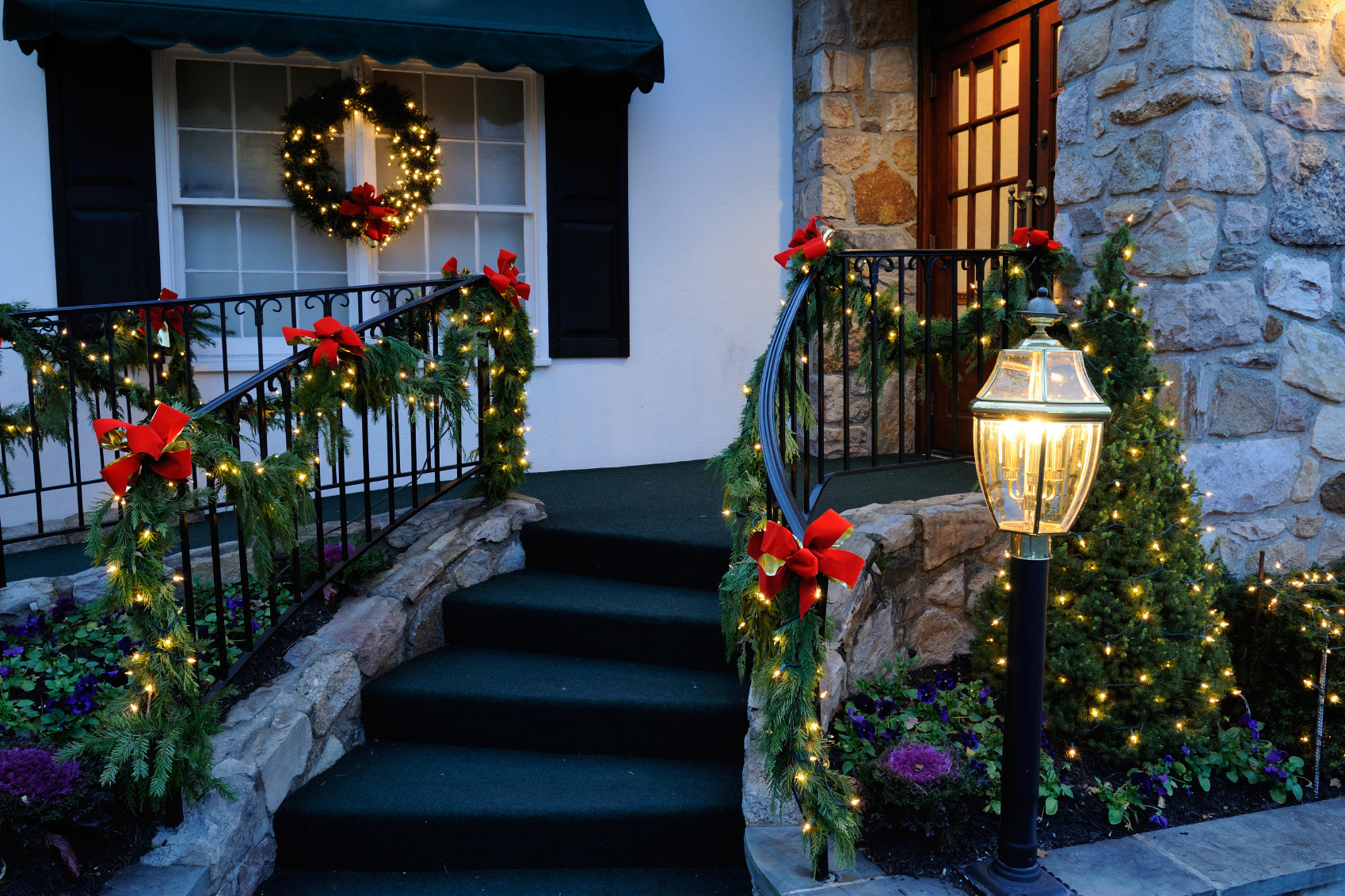 Christmas Porch Lights  Top 40 Ideal Ways To Decorate With Garlands This Christmas
