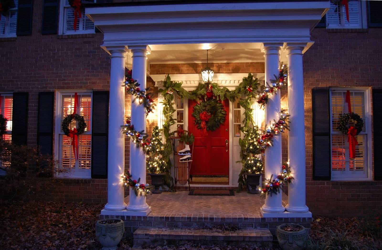 Christmas Porch Lights  Christmas Decorating Ideas for Your Porch