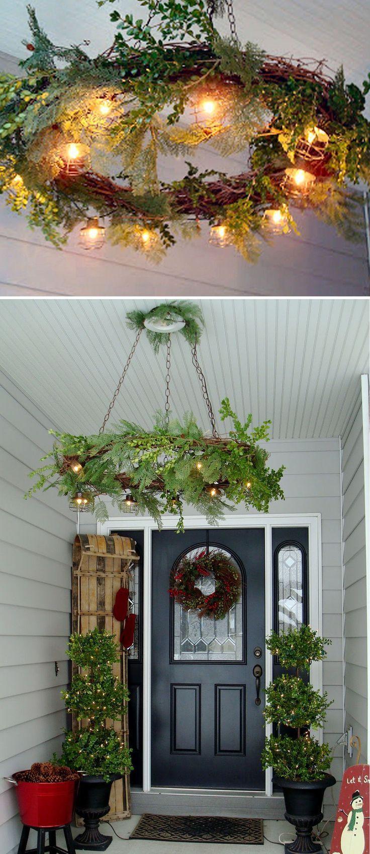 Christmas Porch Lights  Best 25 Outdoor christmas wreaths ideas on Pinterest