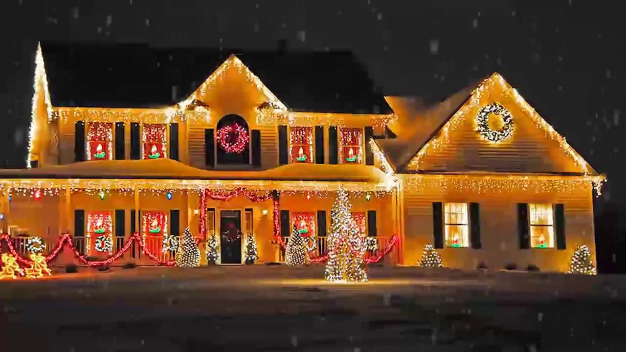 Christmas Porch Lights  Outdoor Christmas Lighting Decorations Ideas for Home