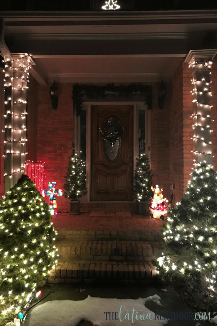 Christmas Porch Lights  A Simple Christmas Porch The Latina Next Door