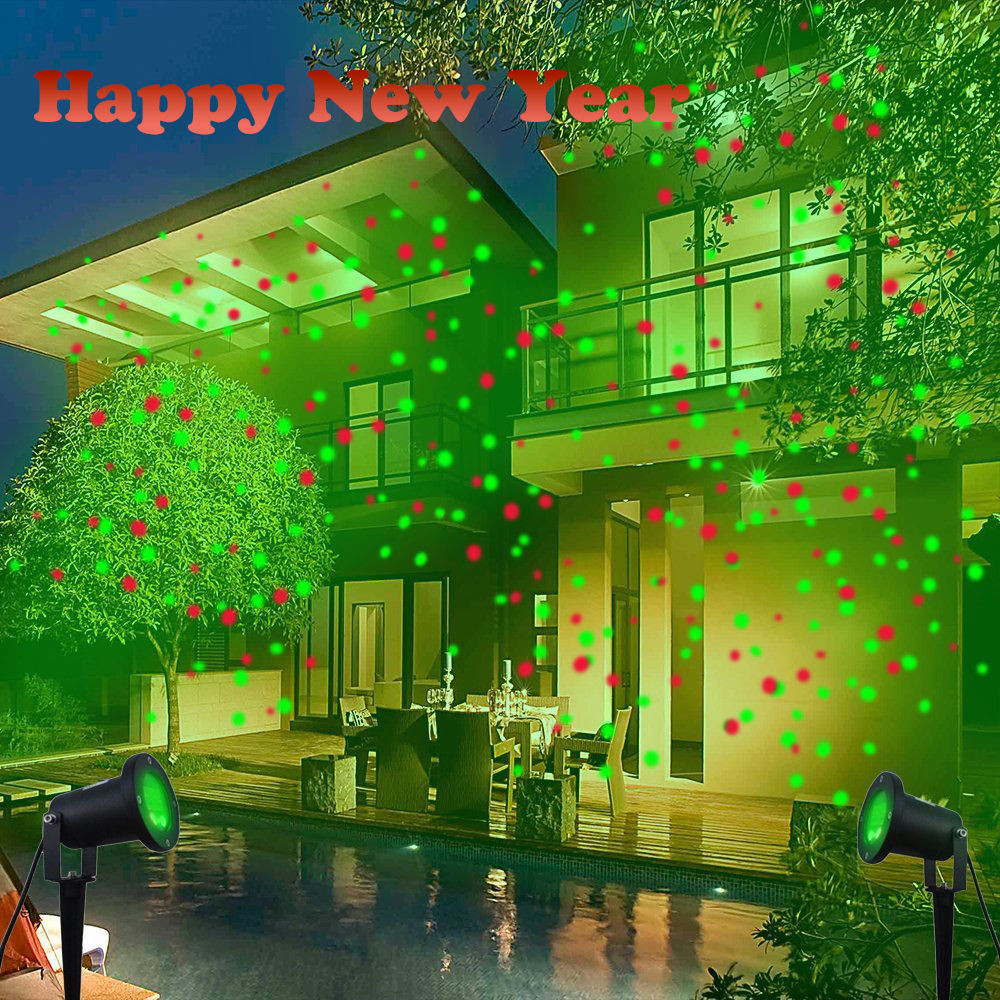 Christmas Porch Lights  New Waterproof Outdoor Christmas Lights Laser Projector