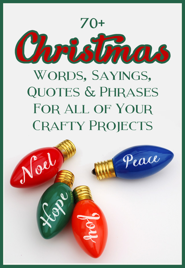 Christmas Quotes And Sayings  The Craft Patch Mega List of Christmas Words Sayings