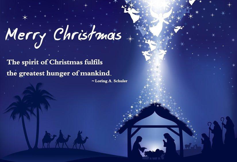 Christmas Quotes Christian  Merry Christmas The Spirit Christmas Fulfills The