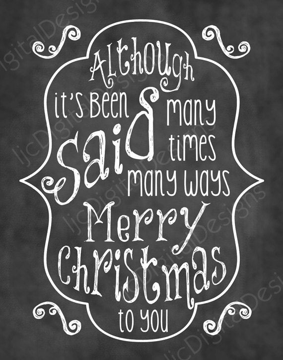 Christmas Quotes From Songs  Christmas Song Chalkboard Word Art Lyrics Printable