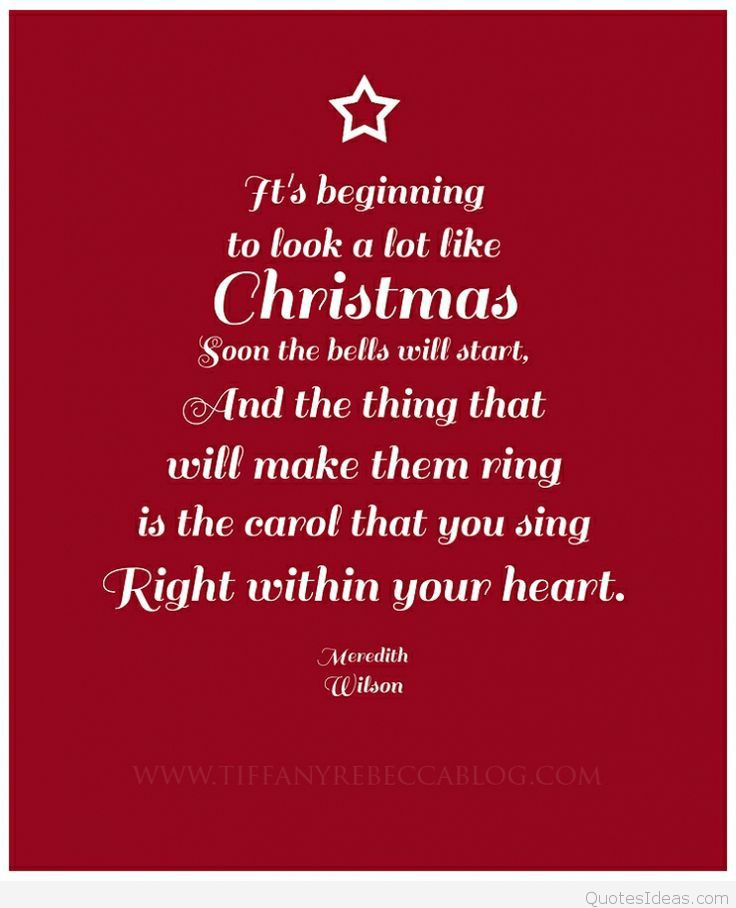 Christmas Quotes From Songs  Best Christmas quotes images for Pinterest