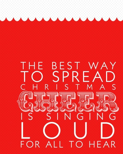Christmas Quotes From Songs  Spread Holiday Cheer Quotes QuotesGram