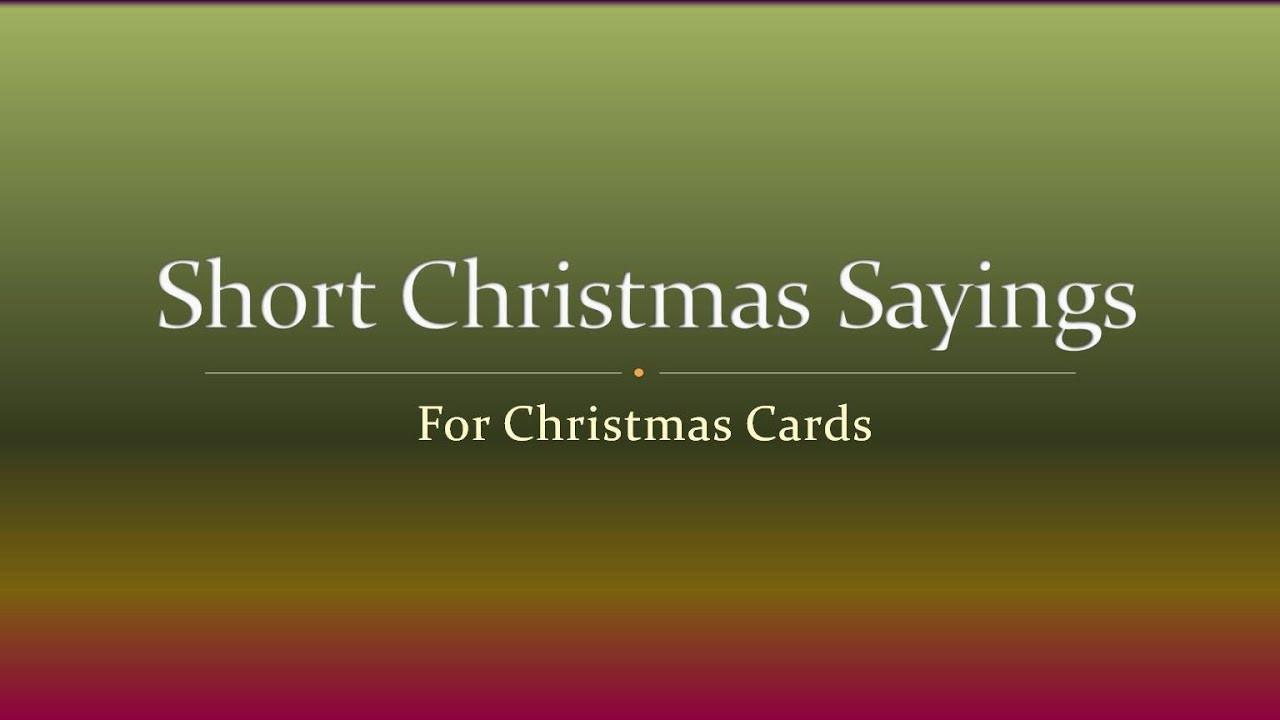 Christmas Quotes Short  Short Christmas Sayings for Christmas Cards