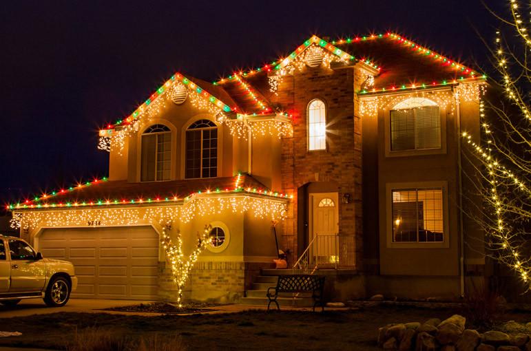 Christmas Rooftop Decorating Ideas  Holiday Lighting Nichols Handyman Service