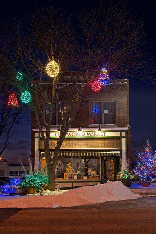 Christmas Rooftop Decorating Ideas  Top 46 Outdoor Christmas Lighting Ideas Illuminate The