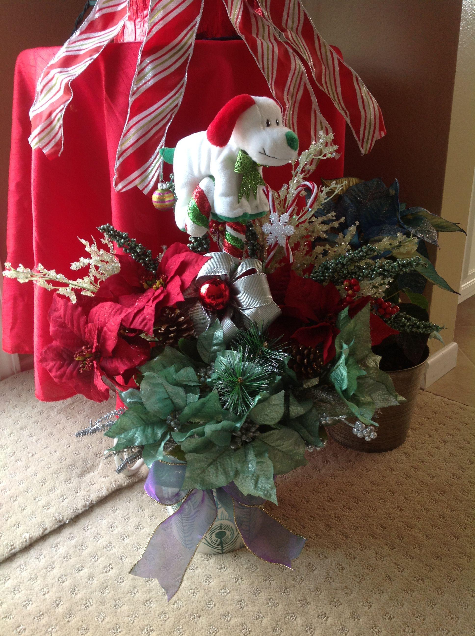 Christmas Silk Flower Arrangements  Christmas silk flower arrangement