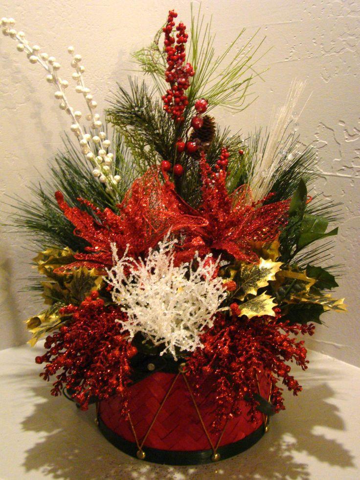 Christmas Silk Flower Arrangements  CHRISTMAS SILK FLORAL ARRANGEMENT 3030