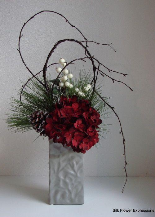 Christmas Silk Flower Arrangements  25 best Silk flower arrangements ideas on Pinterest