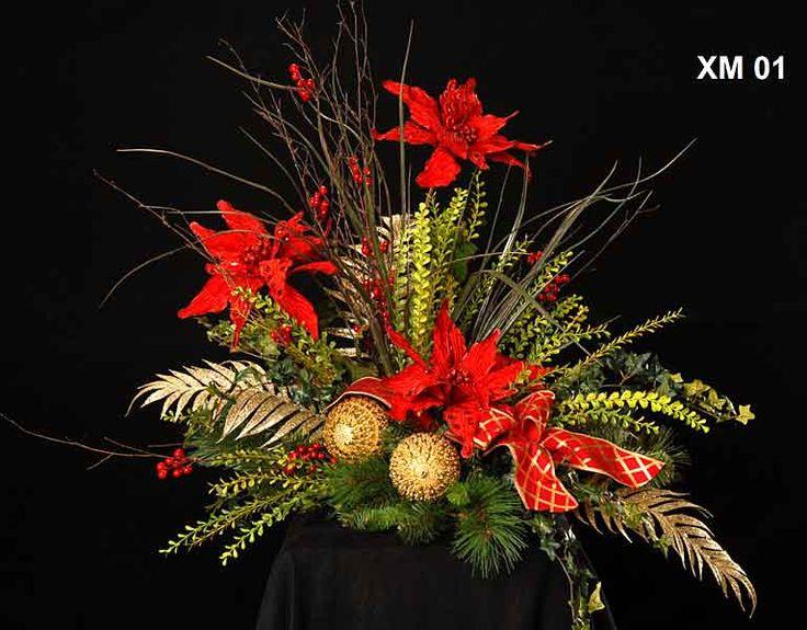 Christmas Silk Flower Arrangements  17 best ideas about Christmas Flower Arrangements on