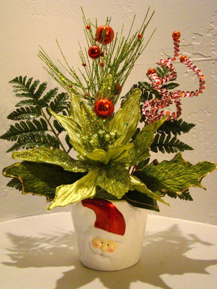 Christmas Silk Flower Arrangements  17 Best images about Christmas florals on Pinterest