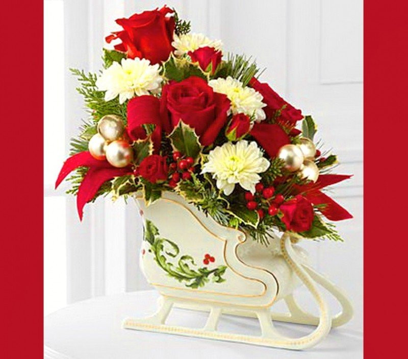 Christmas Silk Flower Arrangements  Artificial Christmas Centerpieces Foter