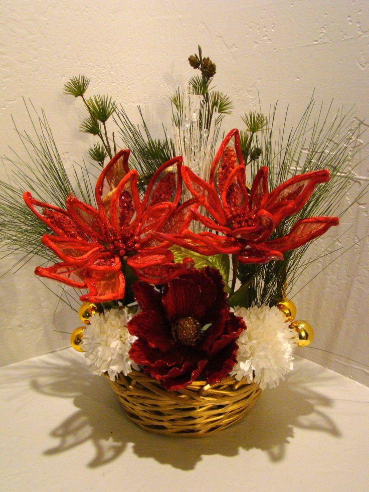 Christmas Silk Flower Arrangements  21 best Christmas Silk Floral Arrangements & Baskets