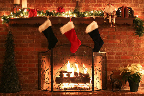 Christmas Sock Fireplace  A luscious Christmas – Part 1