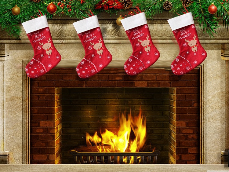 Christmas Sock Fireplace  Popular Fireplace Christmas Stockings Buy Cheap Fireplace