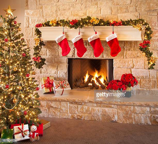 Christmas Sock Fireplace  Fireplace Stock s and